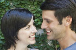 Hispanic couple in garden