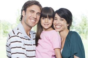 Hispanic family portrait
