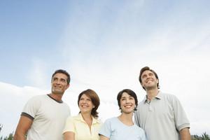 Hispanic family together