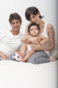 Hispanic family with baby