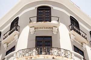 Historic architecture in Old San Juan Puerto Rico.