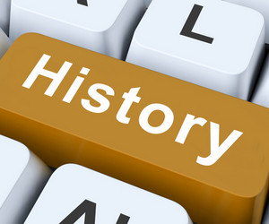 History Key Means Past Or Old Days