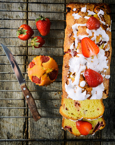 Strawberry Bread From Above