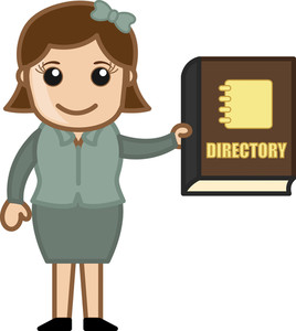 Holding A Business Directory - Business Cartoons Vectors