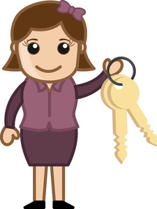 Holding Keychain Cartoon