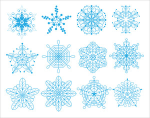 Holiday Xmas Snowflakes