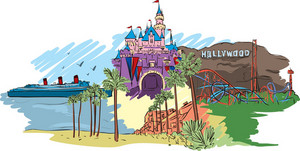 Hollywood Vector Doodle