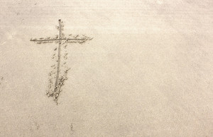 Holy Cross On Sand