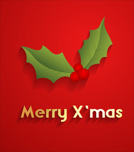Holy Leaf Xmas Greeting Card