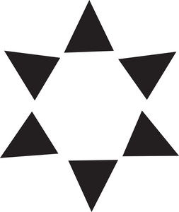 Holy Symbol Of Judaism In Black And White.