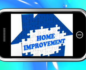 Home Improvement On Smartphone Shows Hiring Contractor