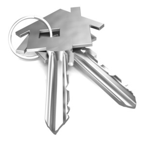 Home Keys Shows House Security Or Locked