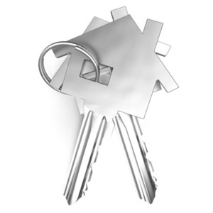 Home Keys Shows House Security Or Unlocking