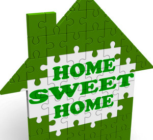 Home Sweet Home Shows Welcome Friendly Invitation