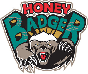 Honey Badger Mascot Front