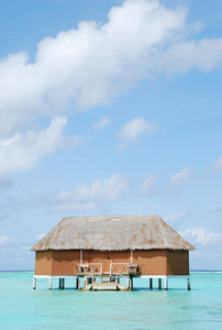 Honeymoon Villa In Maldives (clouscape Background)