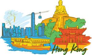 Hong Kong Vector Doodle