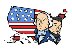Honoring Our Presidents On Washington Birthday Vector