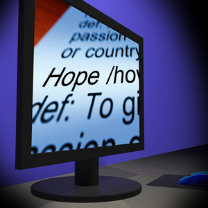 Hope On Monitor Showing Wishes