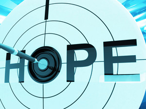 Hope Target Shows Prayer And Faith Hopeful