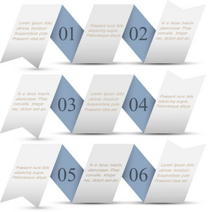 Horizontal Origami Paper Numbered Banners