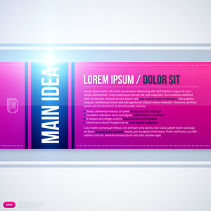 Horizontal Text Background With Cold Glowing Light On White Background. Eps10