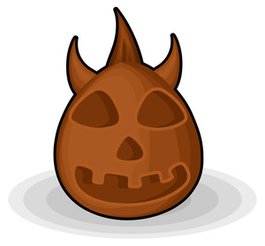 Horrible Devil Halloween Jack-o-lantern