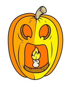 Horrible Jack O' Lantern - Halloween Vector Illustration