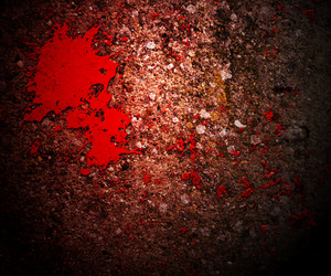 Horror Blood On Grunge Wall