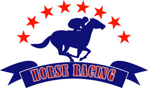 Horse And Jockey Racing Silhouette Stars