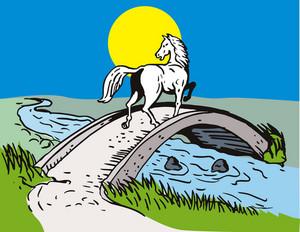 Horse Crossing Bridge