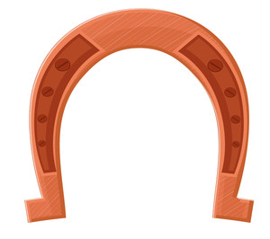 Horseshoe Vector Design Shape