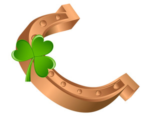 Horseshoe With Shamrock