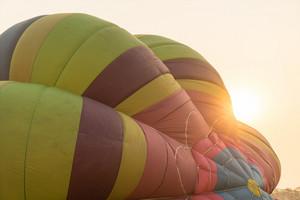 Hot air balloon in sunset