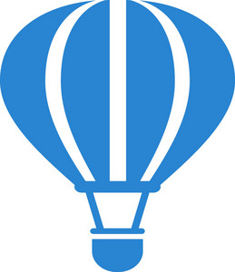 Hot Air Balloon Simplicity Icon
