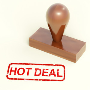 Hot Deal Stamp Shows Special Discounts