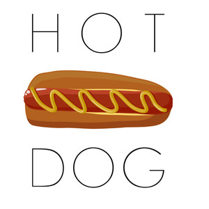 Hot Dog Illustration. Vector