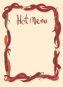 Hot Menu Template. Vector.