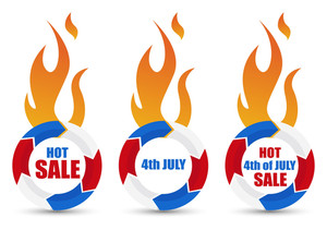 Hot Sale Patriotic Usa Theme Vector