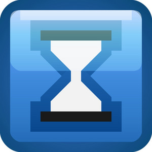 Hourglass Blue Tiny App Icon