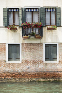 House beside water at Venice. Italy