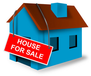 House For Sale Sign On House