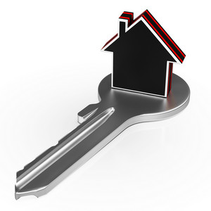 House On Key Shows Security Or Real Estate