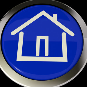 House Or Home Icon Button For Real Estate