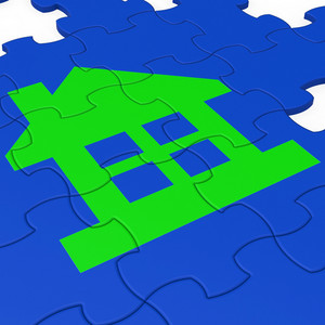House Puzzle Shows Real Estate
