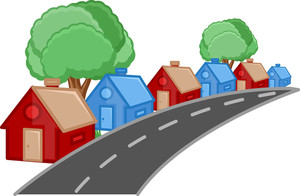House - Real Estate Concept - Vector Character Cartoon Illustration
