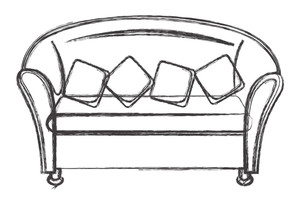 House Sofa Drawing