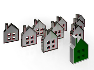 House Symbols Means Real Estate For Sale