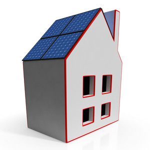 House With Solar Panels Showing Renewable Energy
