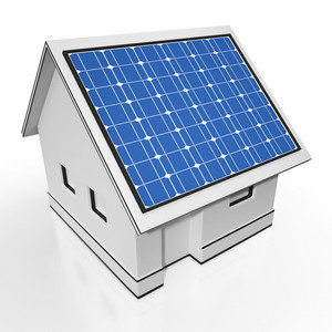 House With Solar Panels Showing Sun Electricity
